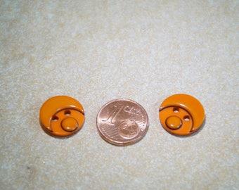 orange button 15mm Sun Moon
