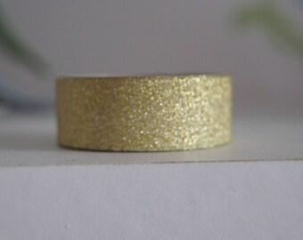 1.5 CM X 5 M WASHI TAPE MASKING ADHESIVE GOLD GLITTER