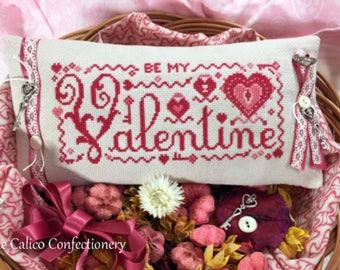 Be My Valentine cross stitch pattern chart