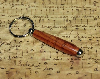 keyring 'rosewood' and silver