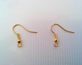 Set of 2 16 mm gold tone ear hooks