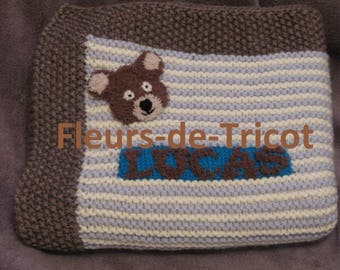 Custom crochet baby blanket handmade teddy bear