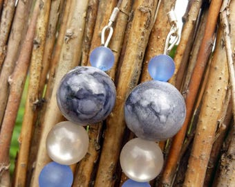 Sale earrings - blue-gray