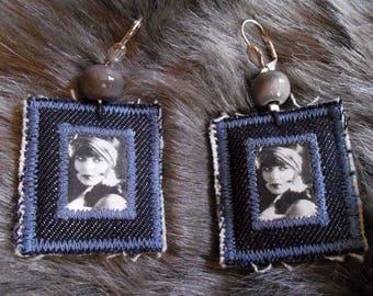 Charleston woman portrait earrings