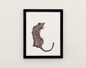 Leopard Illustration Print