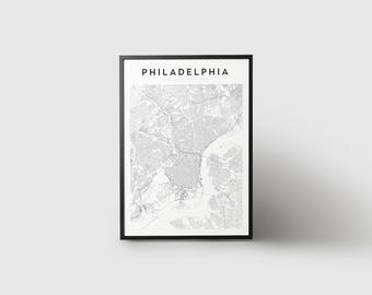 Philadelphia Map Print