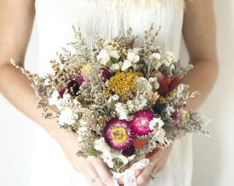 Bridal bouquet, dried flower bouquet, fall bouquet, fall wedding bouquet, fall bridal bouquet, boho wedding, boho bouquet