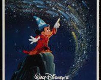 1986 Walt Disney Fantasia Poster/One Stop Posters Fantasia/Never opened Fantasia Poster/Walt Disney Fantasia