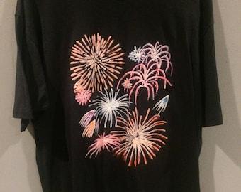 Vintage fireworks shirt