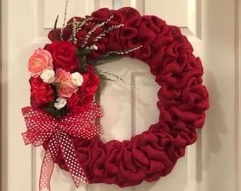 Valentine's Day Bouquet Wreath White