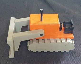 Handmade Wooden Bulldozer
