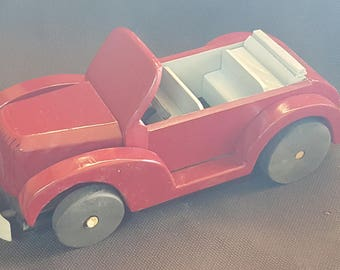 Handmade Old fashioned Toy Roadster Car