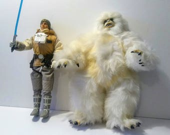 "Vintage Star Wars Collector Series Figure Doll Luke Skywalker Wampa 12"" Loose"