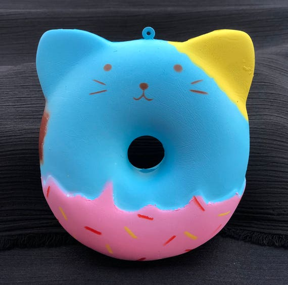 Kawaii Slow Rising Cat Donut Squishy Keychain Charm Free with