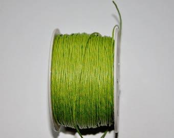K1 - Set of 5 meters of green waxed cord