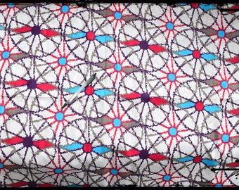 "coupon ""wheels"" African wax fabric"