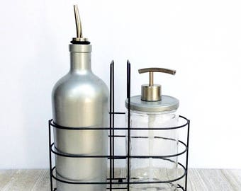 Kitchen Set   Soap Dispenser Set   Silver Kitchen Set   Industrial Kitchen    Wedding Gift