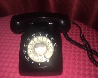 Phone - Black Rotary Home Phone - 1980
