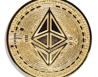 Ethereum Gold Hard Enamel Pin