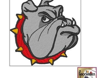 Embroidery: embroidery file format: Bulldog head