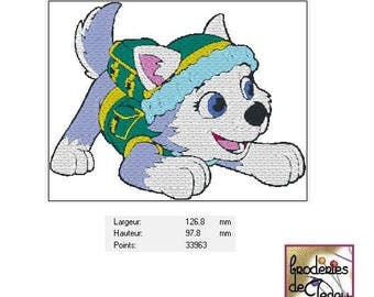 Embroidery file format: pat EVEREST' patrol (Paw patrol)