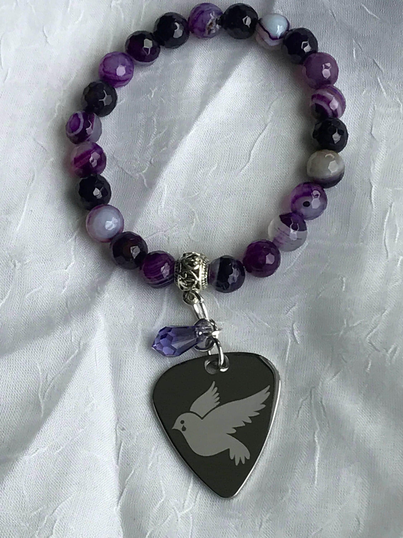Prince prince bracelet prince symbol charm bracelet purple prince prince bracelet prince symbol charm bracelet purple bracelet guitar pick buycottarizona