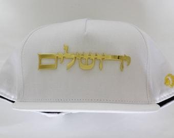gold Jerusalem snapback . cap