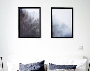 Nordic Forest BUNDLE Scandi Wall Art Print for Scandinavian Decor Modern Minimalist Poster Print – Instant Digital Download File