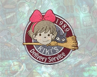 Kiki's Delivery Service Patch Cartoon patch back patch hat patch bag patch sew on patch Iron on Patch
