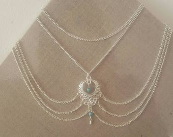 beautiful Silver ankle chain