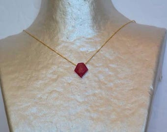 Totem Ruby on gold chain necklace