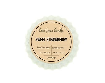 Sweet strawberry tart
