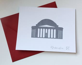 Washington DC Jefferson Memorial Card A2