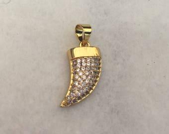 Zirconium Horn pendant