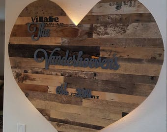 Rustic Wooden Heart with LED Lighting