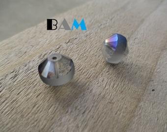 Set two beautiful glass beads