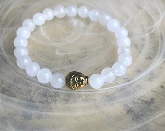 quartz Buddha Bracelt