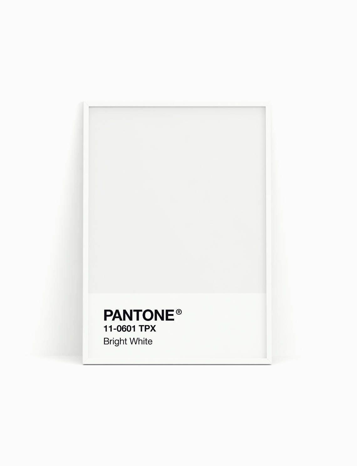pantone print pantone poster pantone bright white. Black Bedroom Furniture Sets. Home Design Ideas