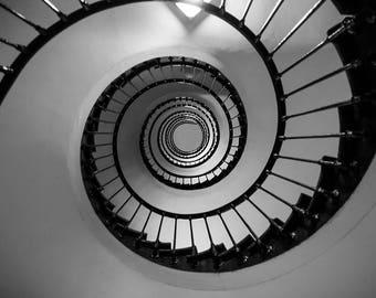 Grenoble stairway - Postcard