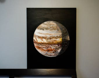 Jupiter Arrival- Large Original Acrylic Painting - Canvas