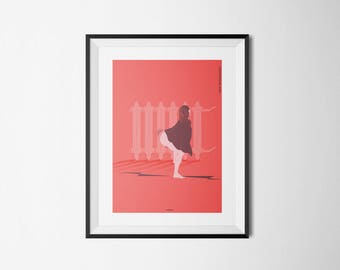 Tuesday's poster, twerking poster, poster for coldness, red poster, art, print, minimal poster