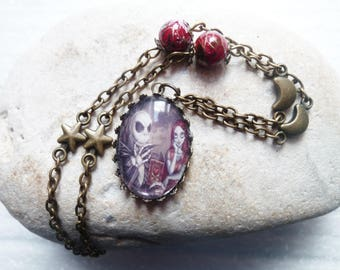 Necklace with skeleton