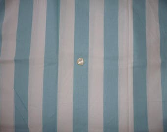 "Fabric cotton theme ""lines white & blue"""