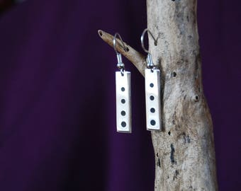 """Earrings original and handcrafted silver 9.25 """"bubbles"""""""