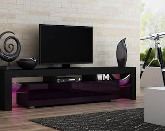 helios 200 modern tv unit for living room tv stand with led lighting system