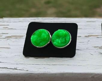 Druzy stud earrings