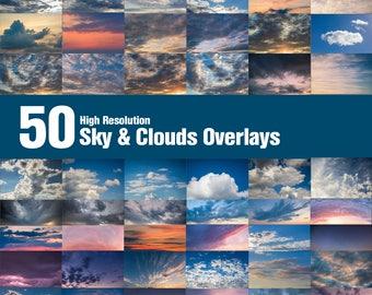 Sky & Clouds Overlays / Texture Wolken Cloud ( Himmel Überlagerungen  Photoshop mit Sonnenuntergang, storm, sunrise, sunset, Collection)
