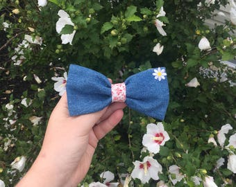 Denim Hairbow