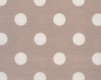 Waxed canvas pink vintage pattern for making tablecloth dots