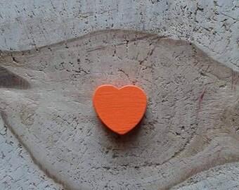 Orange heart wood bead